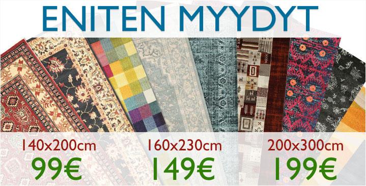 Suosikkimatot nyt 99€ / 149€ / 199€ kappale