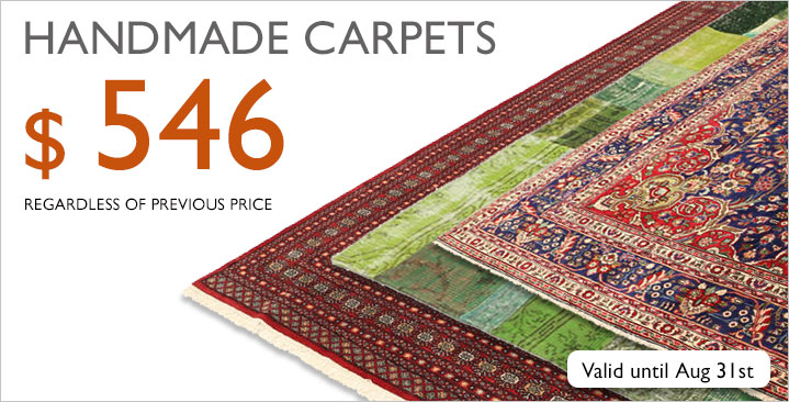 Mixed selection of handmade carpets, $ 546 regardless of previous price!