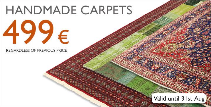 Handmade carpets 499 €, regardless of previous price!
