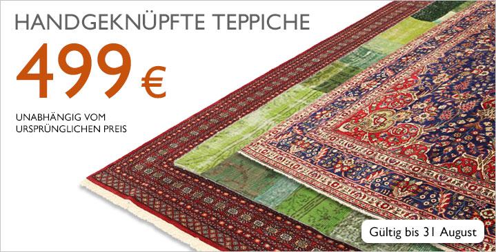 Große Auswahl handgeknüpfter Teppiche für 499 €, unabhängig vom ursprünlichen Preis!