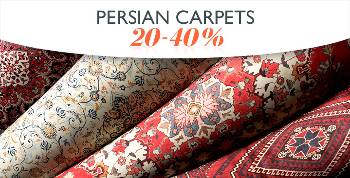 Persian carpets 20-40%