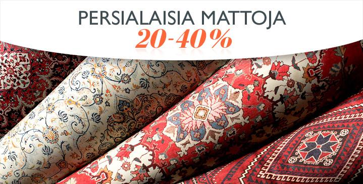 Persialaisia mattoja 20-40%