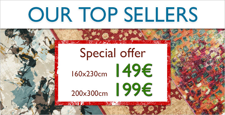 149€ / 199€ on our best-seller rugs