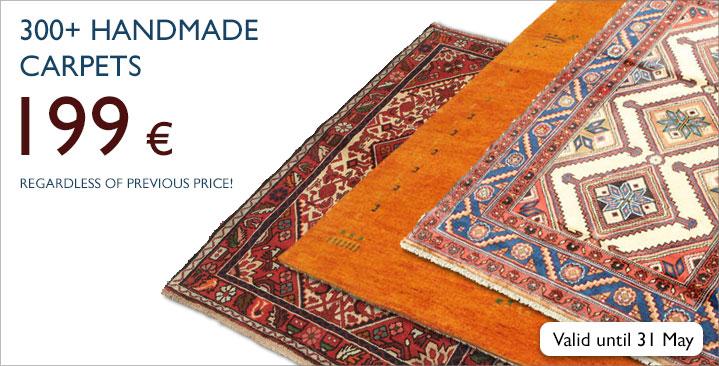 Handmade carpets 199 €, regardless of previous price!