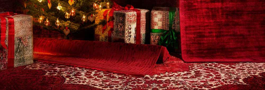 Alfombra roja para Navidad
