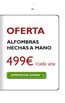 Alfombras hechas a mano 499 €, ¡independientemente del precio anterior!