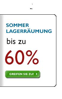 Sommer Lagerräumung - Sparen Sie bis zu 60%