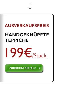 Große Auswahl handgeknüpfter Teppiche für 199 €, unabhängig vom ursprünlichen Preis!