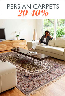 Persian carpets <b>20-40%</b>